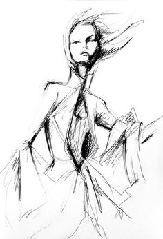 fashion illustration by Lara Wolf #givenchy #fashion #illustration