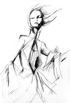 fashion illustration by Lara Wolf #givenchy #fashion #illustration