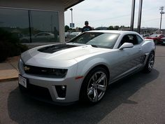 Custom Camaro ZL1 at the Brenengen Chevrolet Car Show in West Salem , WI - July 2013