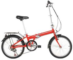 20 Inch Comfortable Mobile Portable Compact Lightweight 6 Speed Finish Great Suspension Folding Bike for Men Women Foldable Bike Students and Urban Commuters