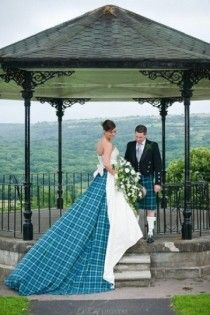 wedding - intersting use of tartan @Matthew Addonizio Addonizio Newsome
