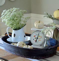 White Vintage Kitchen Scale | Farmhouse Flair from VintageFarmhouseFinds.com