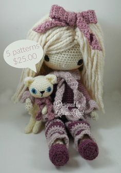 February, December, April, January, November, their pets and a Basic Stitch Guide. Amigurumi Doll Crochet Pattern PDF