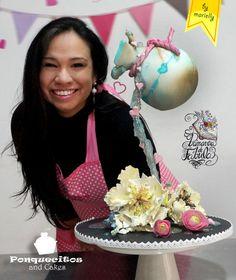 La Vasija Agrietada  (Gravity defying Spring Cake) - Cake by Marielly Parra (Colaboración para Primavera de Fábula)