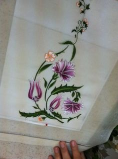 Elsa, Embroidery, Painting, Pillow Shams, Flowers, Pintura, Needlework, Needlepoint, Painting Art