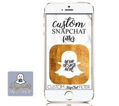 ABOUT: SnapChat Geofilters are a great personal accessory to any party or celebration - its a great way for you and your friends to share your event with a customized frame specifically designed for you!   CUSTOMIZATION: With this listing you will receive one personalized 1080x1920 .png image that meets SnapChats requirements. It will be personalized with a business logo or image of your choosing, in any style youve seen in my shop - or something original! I am your personal designer for…