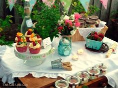 Ladies night on the patio.. This is another great idea for a Bridal shower. . Maybe if a lot of your guest's work this is an option.