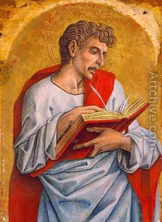 Carlo Crivelli, St John the Evangelist (single panel from a Polyptych for Montefiore dell'Aso (Ascoli Piceno), Detroit Institute of Arts Italian Painters, Italian Artist, Italian Renaissance, Renaissance Art, St John The Evangelist, San Juan Evangelista, Web Gallery, Sacred Art, Triptych