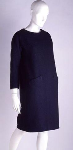Cristobal Balenciaga - Robe sac en laine - 1959-60