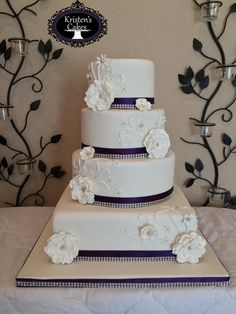 4 tier wedding cake square four tier wedding cake with square hexagon and 10408