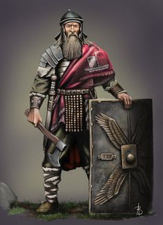 'could be Norwold (Oceansend), Helskir (Isle of Dawn), Thyatis (or even Ostland) regions  [Gentleman with Roman bits of armor]