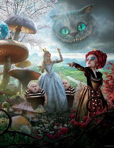 In Wonderland 2010 Wallpapers, Alice in Wonderland 2010 Posters, Movie