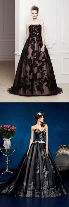 Elegant & Romantic Victorian Gothic wedding Dresses / Gowns Ideas that comes in Black, White, Red Orange, Purple, Blue Theme / Attire. These Unique Vintage n Victorian Goth themed Steampunk Bride / Bridesmaid dress oufit is perfect for Rustic, Indoor / Outdoor, Halloween, Bohemian, Beach, Winter Weddings reception. These Simple, Elegant, Romantic n Beautiful costumes Inspiration comes in both with Sleeve & Sleeveless - also have options like lace, ball gown, mermaid, princess, open back…