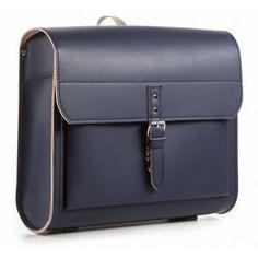 school bag, satchel, leather, aruzzi taugo® Schulranzen iSi navy