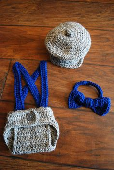 crochet newsboy hat diaper cover with suspenders by LoopySlipKnot, $18.00