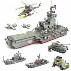Lego Aircraft Carrier, Ww2 Aircraft, Lego Army, Lego Military, People's Liberation Army, Lego Ship, Model Building Kits, Best Kids Toys, Cool Toys