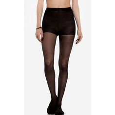 Classic Sheer Stockings (3.90 CAD) ❤ liked on Polyvore featuring intimates, hosiery, tights, tights & leggings, accessories, bottoms, pants, black, sheer black tights and black pantyhose