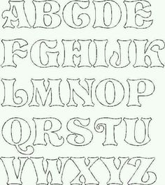 drawings of lettering - Yahoo Image Search Results Stencil Lettering, Lettering Tutorial, Letter Stencils To Print, Free Printable Letter Stencils, Alphabet Letter Templates, Alphabet Stencils, Hand Lettering Fonts, Doodle Lettering, Graffiti Lettering