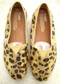 For my second pair of Toms, I'm going to buy a pair of gold and leopard print them!