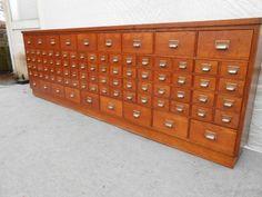 oude vintage ladekast apothekerskast winkelkast