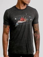 Creator - Multicolor on Heather Black Triblend Mens T Shirt - Curbside Clothing