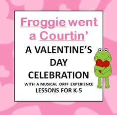 """Welcome to Orff for Beginners!  Have you ever wanted to teach a Valentine's Day lesson but always felt like you weren't giving your students quality instruction?  I know I have!  This year it can be different.  Keeping music true to Orff we came up with a """"One Day Valentine's Celebration"""" for grades K-5 with the folk song """"Froggie Went A-Courtin'.""""  Each lesson comes with manipulatives and a power point."""