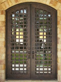 I want gates on our front entryway door Iron Front Door, Iron Doors, Iron Gates, Entrance Gates, House Entrance, Window Inserts, Stainless Steel Screen, Double Entry Doors, Knobs And Knockers