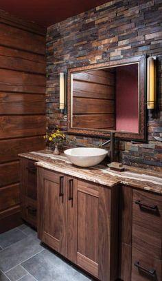 29 Lovely DIY Rustic Bathroom designs you can create for your home decor Rustic Bathroom Decor Design No. Rustic Bathroom Designs, Rustic Bathroom Vanities, Rustic Bathroom Decor, Rustic Decor, Bathroom Plans, Remodel Bathroom, Bathroom Renovations, Rustic Renovations, Design Bathroom