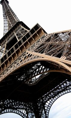 Eiffel Tower angle #architecture, #photography, #france, #paris, #tower, #eiffel, #day