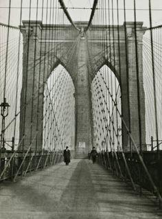E.O. Hoppé On the Brooklyn Bridge New York City, 1921 From E. O. Hoppé's Amerika: Modernist Photographs from the 1920's