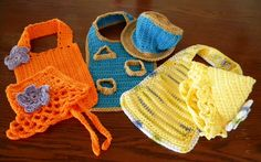 Lots of Crochet Stitches by M. J. Joachim: Mesh Backgrounds for Baby Bibs and Bonnets