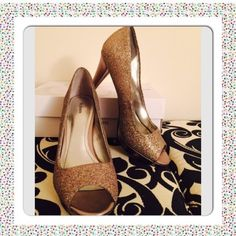 "Style & Co. Peep Toe Glitter High Heels Gorgeous Multi-Color Sparkle High Heels. What more could a girl ask for? Never Worn. BNIB. Heel height 4"". No Trades, No PP. Style & Co Shoes Heels"