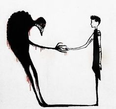 shaking hands with the dark parts of my thoughts