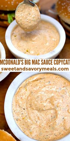 Big Mac Sauce Copycat is an extraordinary condiment loved all around the world. #sauce #dressing #sweetandsavorymeals #copycatrecipes