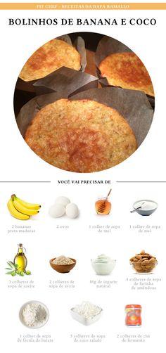 Fit Chef: Bolinhos de banana e coco | CAROL BUFFARA