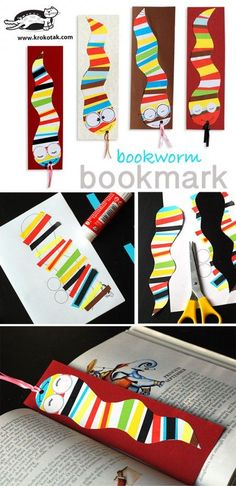 You will need: template scissors colored paper strips colored paper glue paper punch ribbon  Еnjoy your book!...