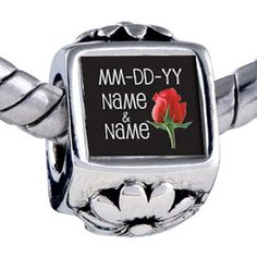 Pugster Bead Rose Bud Custom Holiday European Charm Bead Fits Pandora Bracelet Pugster. $15.99. Note: Snake chain is not included. Weight (gram): 3.75. Size (mm): 7.46*8.09*12.09. Metal: base metal. Bead Size (mm): 7.46mm*8.09mm*12.09mm