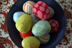 Scrappy Fabric Eggs - A super Easter sewing craft - no eggs required!