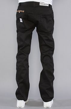 The Donny Pants in Black with Leopard Piping - Know1edge