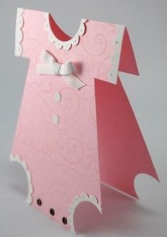 onesie card...how to make using punches by letha