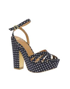 ASOS HUEY Heeled polka dot Sandals!  Almost like Miu Miu:)  $50