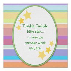 Twinkle Little Star Unisex Baby Shower Invitations