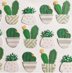 Cactus Craft, Cactus Decor, Art For Kids, Crafts For Kids, Paper Plants, Paper Illustration, Paper Artwork, Marianne Design, Outdoor Art