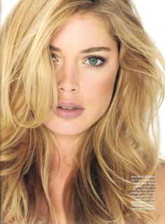 Doutzen Kroes-um she's gorgeous and I love her hair an I just want to be her because she's amazing