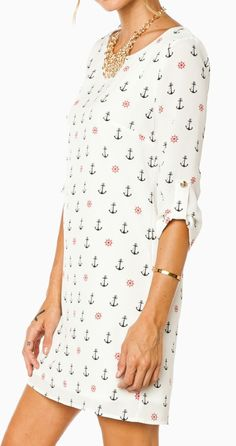 Anchors away shift dress
