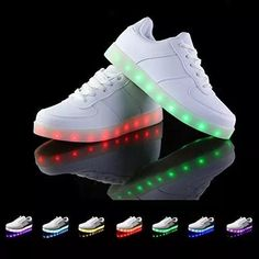 zapatillas con luces led 7 colores simulation usb unisex