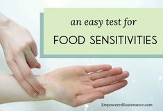 An easy and no-fail method to test yourself for food sensitivities. I'm so going to try this!