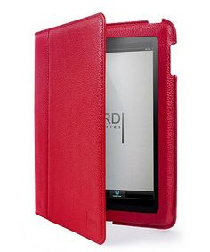 Red Leather Case for iPad mini #zulilyfinds, but I need an Mini-IPad first.