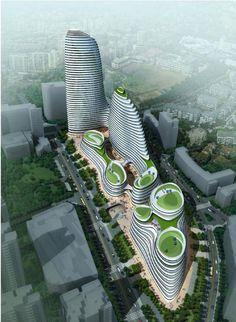 Hopsca Planning & Design (Vol. Floating Architecture, Chinese Architecture, Modern Architecture House, Futuristic Architecture, Sustainable Architecture, Architecture Plan, Beautiful Architecture, Modern Houses, Pavilion Architecture