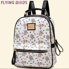 b2da326360d1 Купить товар Летящие птицы! женщины рюкзак Mochila женские кожаные рюкзаки  мода коробка дорожные сумки школьные